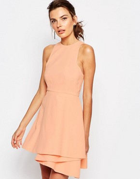 photo Fools Gold Mini Dress by C/meo Collective, color Blush - Image 1