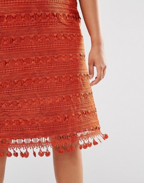 photo Lace Shift Dress by Lovedrobe, color Copper - Image 2