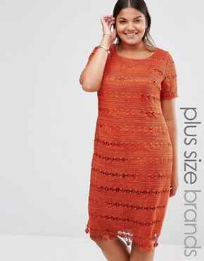 photo Lace Shift Dress by Lovedrobe, color Copper - Image 1