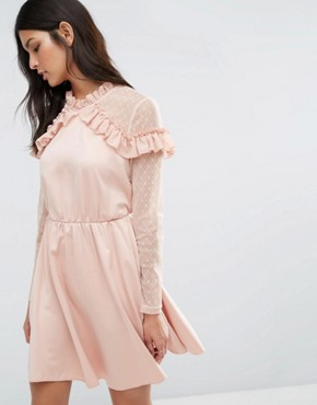 photo Roman Dress by Y.A.S, color Mahogany Rose - Image 1