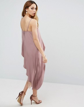 photo Cami Midi Dress with Mesh Insert by ASOS Maternity, color Nude - Image 2
