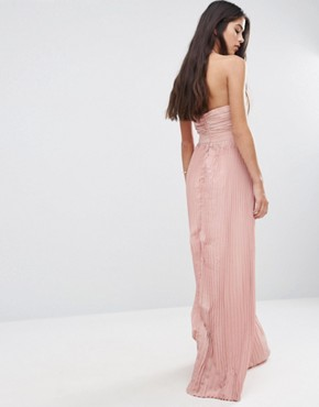 photo Halterneck Skater Dress with Cut Out Detail by Pixie & Diamond, color Light Dusty Pink - Image 2
