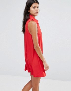 photo Shirt Dress by Pixie & Diamond, color Red - Image 2