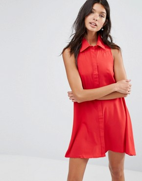 photo Shirt Dress by Pixie & Diamond, color Red - Image 1