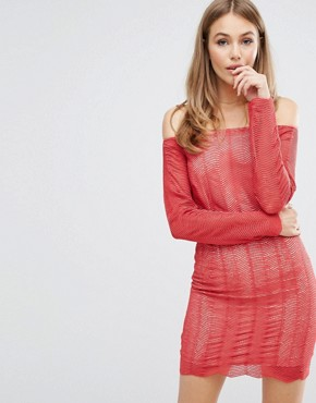 photo Think Twice Lace Dress by Keepsake, color Red Ochre - Image 1