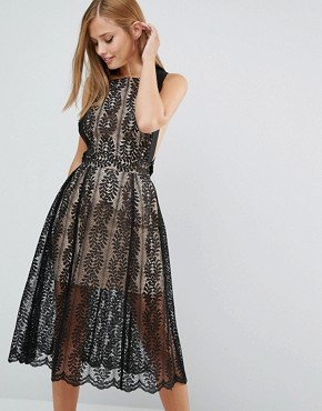 photo Upown Lace Dress by Keepsake, color Black - Image 2