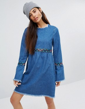 photo Smock Dress with Trim & Ruffles by Liquor & Poker, color  - Image 1