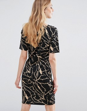 photo Silje Printed Dress by b.Young, color Black - Image 2