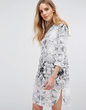 photo Henico Shirt Dress by b.Young, color Off White - Image 1