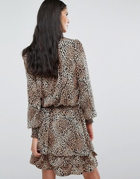 photo Rush Animal Print Skater Dress by Y.A.S Tall, color  - Image 2