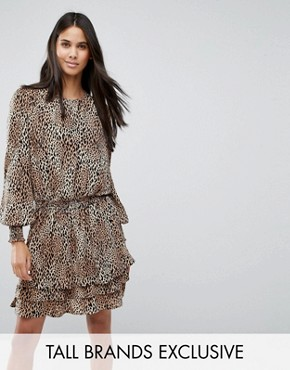 photo Rush Animal Print Skater Dress by Y.A.S Tall, color  - Image 1