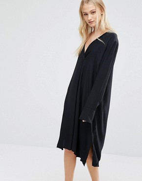 photo Tunic Dress by Just Female, color Black - Image 1
