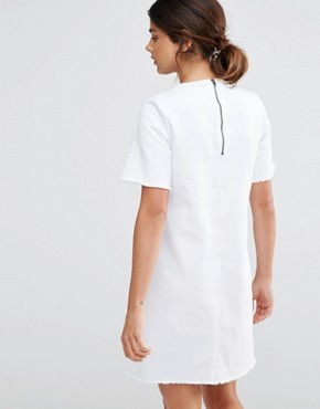 photo Denim Dress by Native Youth, color White - Image 2