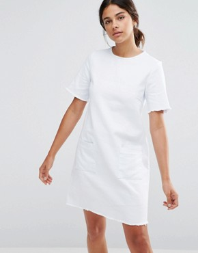 photo Denim Dress by Native Youth, color White - Image 1