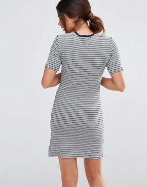 photo Stripe Dress by Native Youth, color Navy/White - Image 2