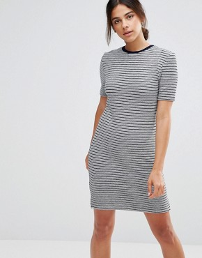 photo Stripe Dress by Native Youth, color Navy/White - Image 1