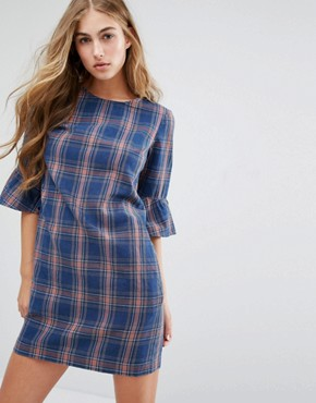 photo Check Tunic Dress by Miss Selfridge, color  - Image 1