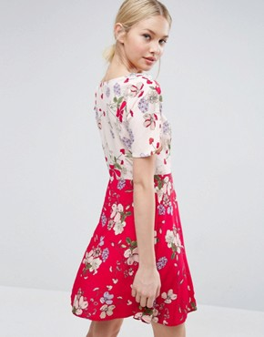 photo Mix And Match Floral Skater Dress by ASOS, color  - Image 2