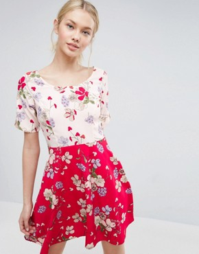 photo Mix And Match Floral Skater Dress by ASOS, color  - Image 1