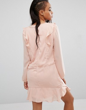 photo Ruffle Front Dress by First & I, color Blush - Image 2