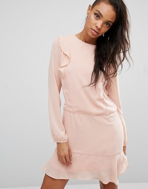 photo Ruffle Front Dress by First & I, color Blush - Image 1
