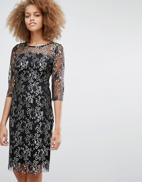 photo Brina Lace Midi Dress by Selected, color Black - Image 1