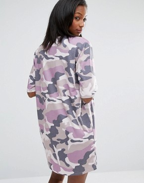 photo Camo T-Shirt Dress by Missguided Maternity, color Mauve - Image 2