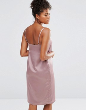 photo Luxe Slip Dress by Neon Rose, color Mink - Image 2