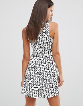 photo Take It Diamond Print Dress by WYLDR, color  - Image 2