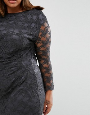 photo Lace Dress by Elvi Plus, color Grey - Image 2