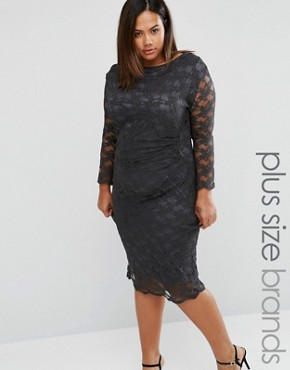 photo Lace Dress by Elvi Plus, color Grey - Image 1