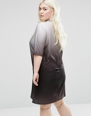 photo Ombre Dress by Elvi Plus, color Black - Image 2