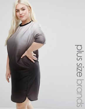 photo Ombre Dress by Elvi Plus, color Black - Image 1