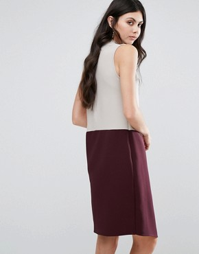 photo High Neck Asymmetric Colour Block Dress by Alter Tall, color  - Image 2