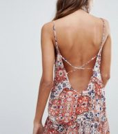photo Sunset Gold Print Strappy Cami Dress by Raga, color  - Image 2