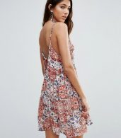 photo Sunset Gold Print Strappy Cami Dress by Raga, color  - Image 3