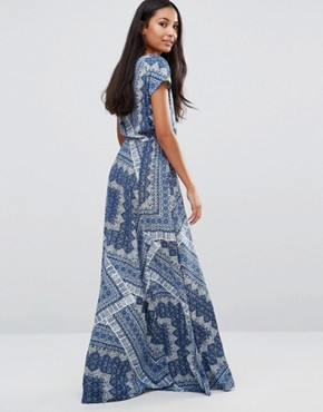 photo Daria Tiles Print Maxi Dress by Pepe Jeans, color Ocean - Image 2