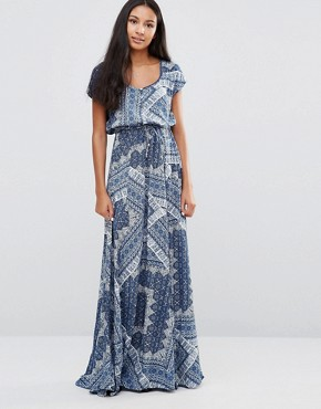 photo Daria Tiles Print Maxi Dress by Pepe Jeans, color Ocean - Image 1