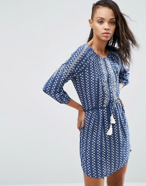 photo Diana Tassle Belted Dress by Pepe Jeans, color Ocean - Image 1