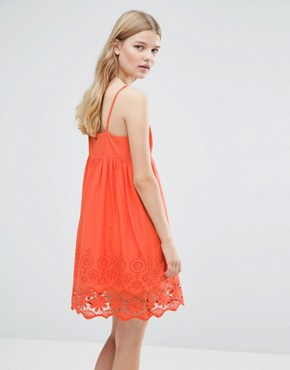 photo Nati Crochet Dress by Pepe Jeans, color Tangerine - Image 2