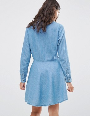 photo Silvy Denim Shirt Dress by Pepe Jeans, color Blue - Image 2