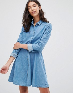 photo Silvy Denim Shirt Dress by Pepe Jeans, color Blue - Image 1
