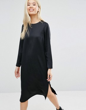 photo Midi Dress with Open Back by ASOS, color Black - Image 1