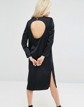 photo Midi Dress with Open Back by ASOS, color Black - Image 2