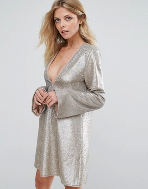 photo Gold Diamond Dress by The Jetset Diaries, color Gold Sequin - Image 1