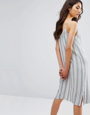 photo Button Front Cami Midi Dress In Stripe by Native Youth, color  - Image 2