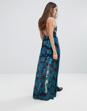 photo Floral Cami Maxi Dress with Split by Lovers + Friends, color Jade - Image 2