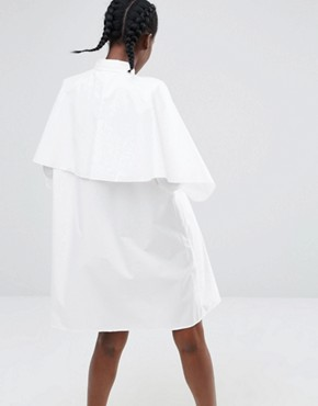 photo Exclusive Swing Shirt Dress by Monki, color White - Image 2