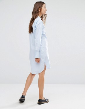 photo Oxford Shirt Dress by Gestuz, color Blue - Image 2