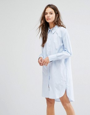 photo Oxford Shirt Dress by Gestuz, color Blue - Image 1